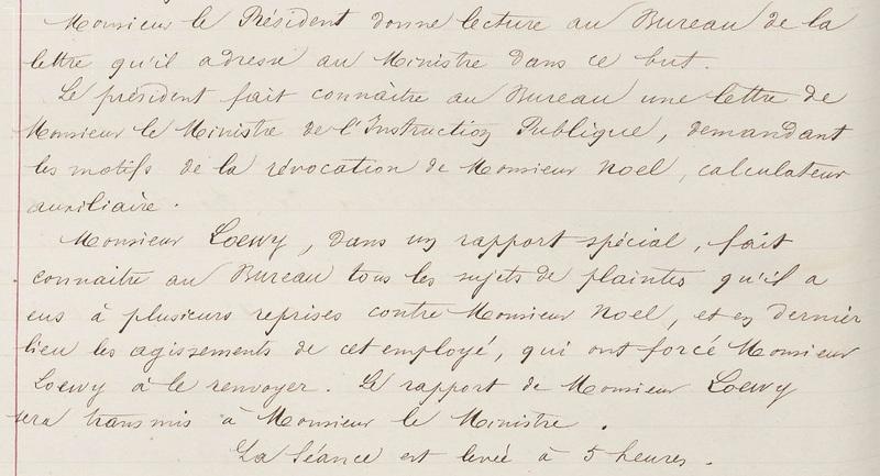Copie du procès-verbal du 5 juillet 1876 - Extrait