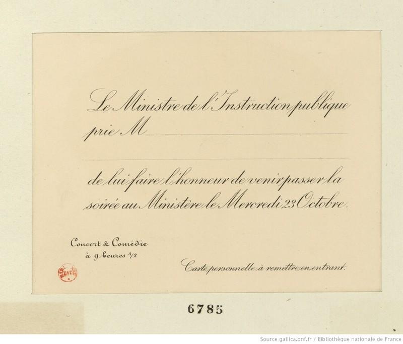 Invitation au Ministère