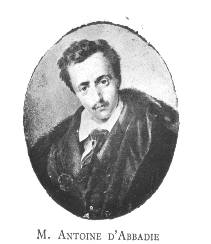 Portrait d'Antoine d'Abbadie dans sa jeunesse.