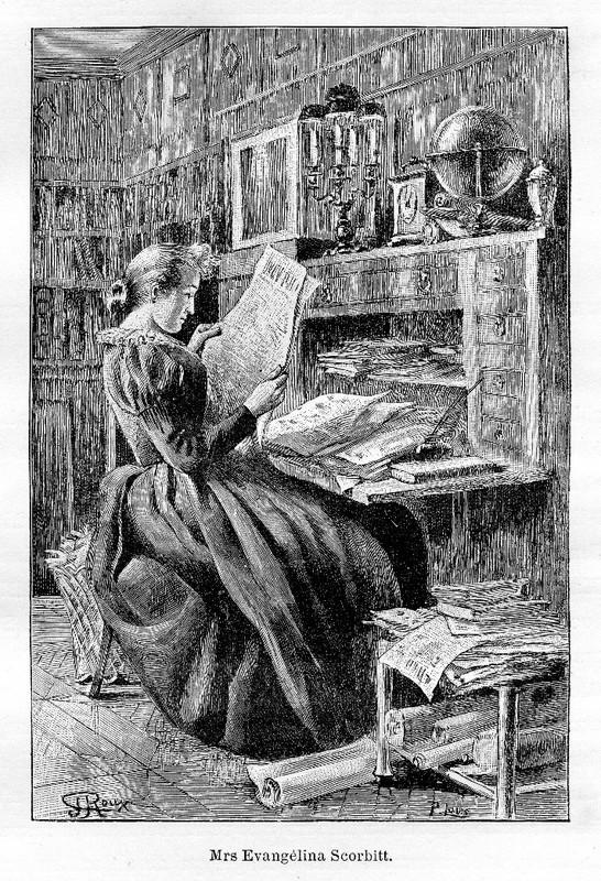 Illustration de Roux pour le roman de Jules Verne Sans dessus dessous