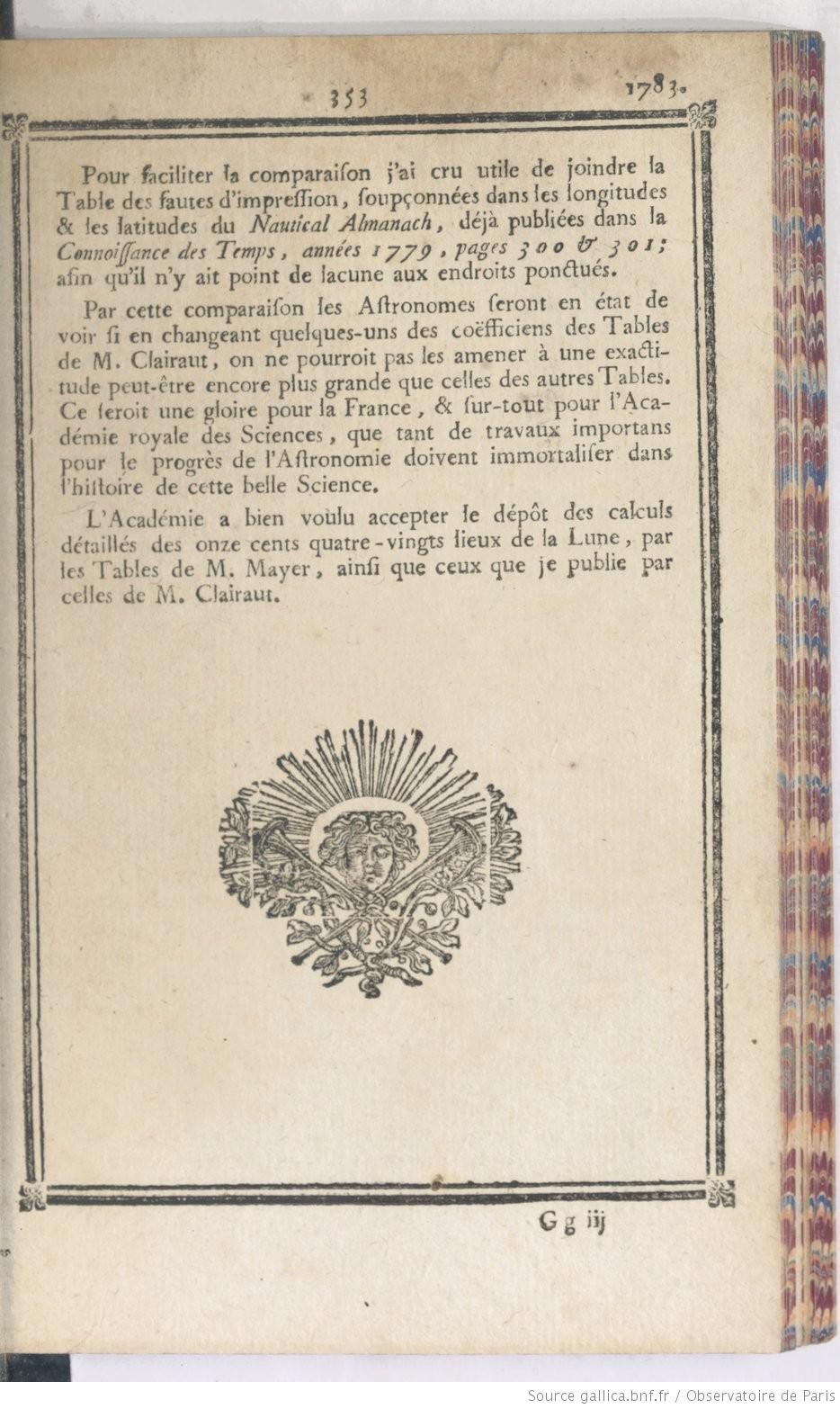 Extrait de la CDT 1783, p. 353
