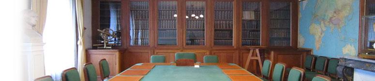 Salle de réunion du Bureau des longitudes (source : Bureau des longitudes)