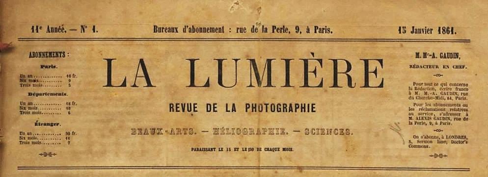 Page titre de La Lumière