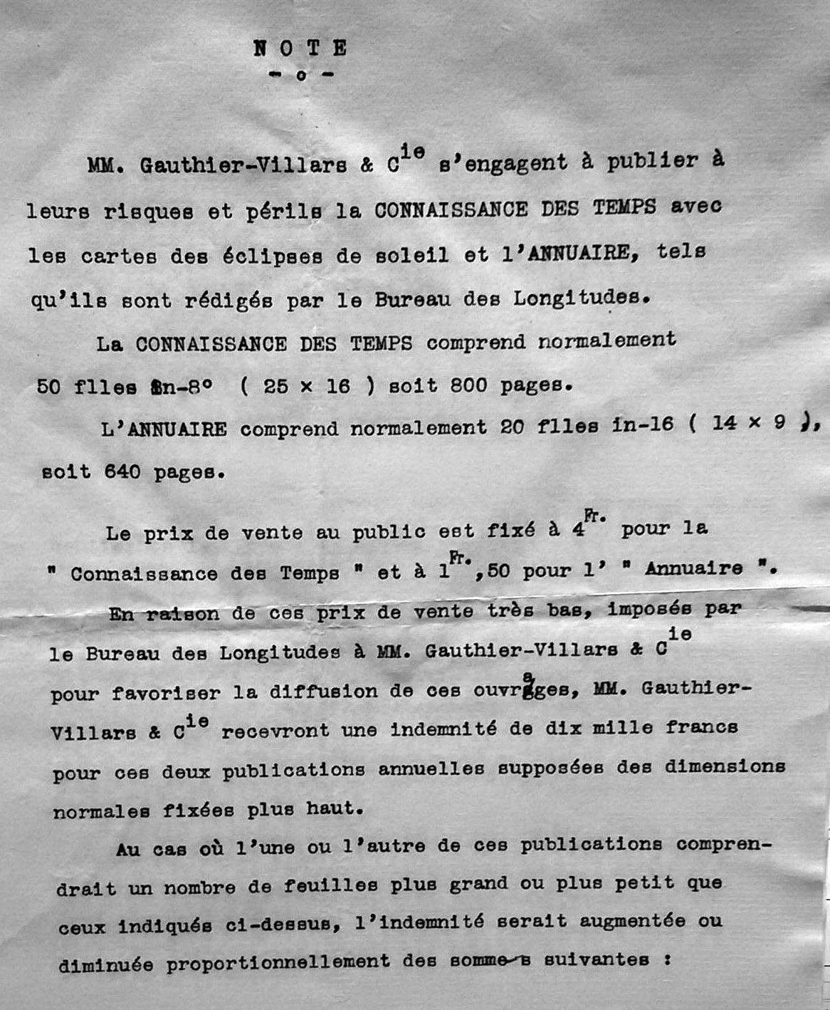 Deuxième extrait de l'avenant au contrat de 1911